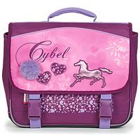 Torby Dziewczynka Teczki Back To School CYBEL CARTABLE 38 CM Różowy