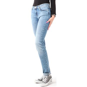 tekstylia Damskie Jeansy skinny Wrangler Jeansy  Slim Best Blue W28LX794O niebieski
