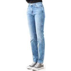 tekstylia Damskie Jeansy skinny Wrangler Jeansy  Boyfriend Best Blue W27M9194O niebieski