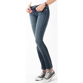 tekstylia Damskie Jeansy skinny Wrangler Jeansy  Courtney Storm Break W23SP536V granatowy
