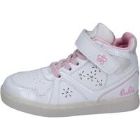 Buty Dziewczynka Trampki wysokie Lulu BR351 Biały
