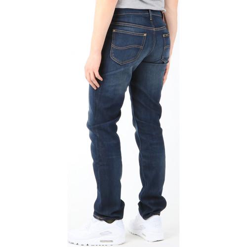 Lee Jeansy Luke Deep Shadow L719yqdp Granatowy - Tekstylia Slim Fit Meskie 29326 Najniższa Cena