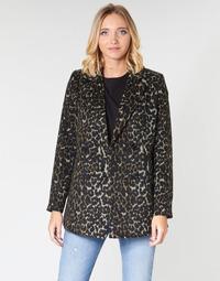 tekstylia Damskie Płaszcze Vero Moda VMCOCOLEOPARD Brązowy