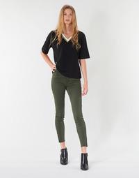 tekstylia Damskie Spodnie z pięcioma kieszeniami Vero Moda VMSEVEN Kaki