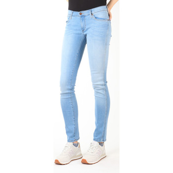 tekstylia Damskie Jeansy slim fit Wrangler Jeansy  Blue Trace W22TF729D