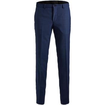 tekstylia Męskie Spodnie od garnituru  Jack & Jones 12141112 JPRSOLARIS TROUSER NOOS MEDIEVAL BLUE Azul