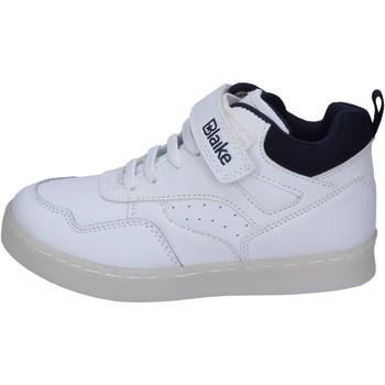 Buty Chłopiec Trampki wysokie Blaike sneakers pelle sintetica Bianco