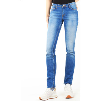 tekstylia Damskie Jeansy slim fit Lee Jeansy  Drew Real Black W24SCK81E niebieski