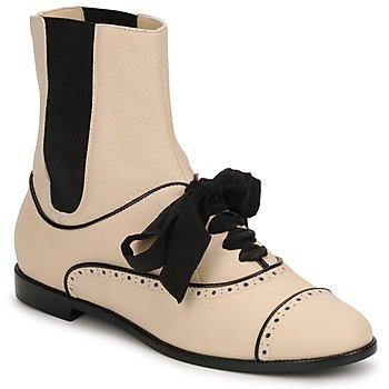 Buty Damskie Buty za kostkę Moschino MA2103 Beżowy