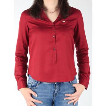 tekstylia Damskie Koszule Lee Koszula  L47QLCPR bordowy