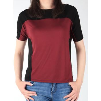 tekstylia Damskie T-shirty z krótkim rękawem Lee Koszulka  Color Block T L40XJMLL czarny, bordowy