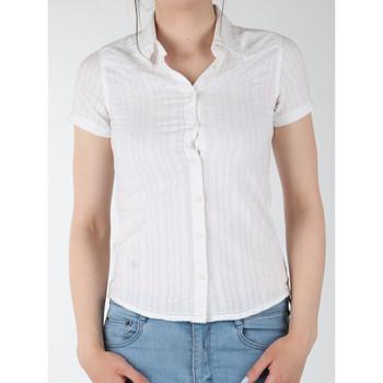 tekstylia Damskie Koszule Wrangler Koszula  Sammy W5021CA12 biały