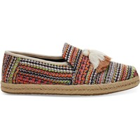 Buty Damskie Espadryle Toms Global Woven Women's Deconstructed Alpargata Cherry Tomato