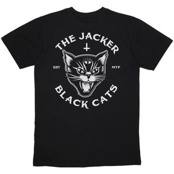 tekstylia Męskie T-shirty z krótkim rękawem Jacker Black cats Czarny