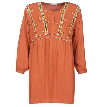 tekstylia Damskie Sukienki krótkie Betty London LOULIA Pomarańczowy