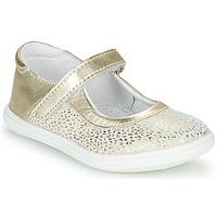 Buty Dziewczynka Baleriny GBB PLACIDA Biały / Złoty
