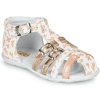 Buty Dziewczynka Sandały GBB RIVIERA Biały / Różowy