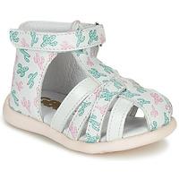 Buty Dziewczynka Sandały GBB AGRIPINE Biały / Zielony / Różowy