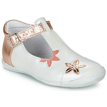Buty Dziewczynka Baleriny GBB ANAXI Biały / Różowy / Gold