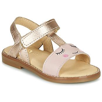 Buty Dziewczynka Sandały GBB NAZETTE Różowy
