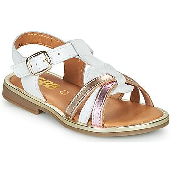 Buty Dziewczynka Sandały GBB EGEA Biały