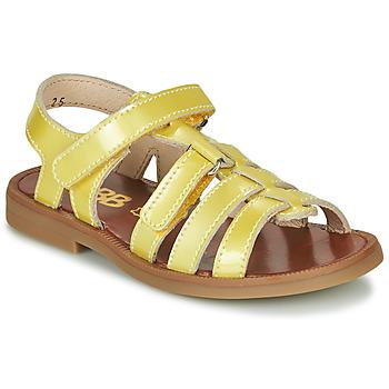 Buty Dziewczynka Sandały GBB KATAGAMI Żółty