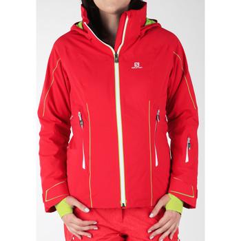 tekstylia Damskie Kurtki wiatrówki Salomon Kurtka narciarska  Whitecliff GTX 374720 czerwony