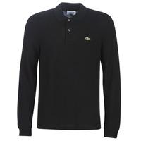 tekstylia Męskie Koszulki polo z długim rękawem Lacoste L1312 Czarny