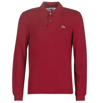 tekstylia Męskie Koszulki polo z długim rękawem Lacoste L1312 Bordeaux