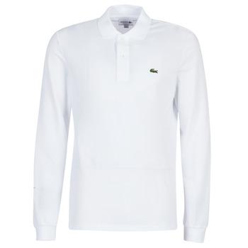 tekstylia Męskie Koszulki polo z długim rękawem Lacoste L1312 Biały
