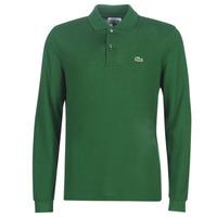 tekstylia Męskie Koszulki polo z długim rękawem Lacoste L1312 Zielony