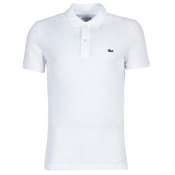 tekstylia Męskie Koszulki polo z krótkim rękawem Lacoste PH4012 SLIM Biały