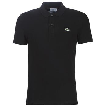 tekstylia Męskie Koszulki polo z krótkim rękawem Lacoste PH4012 SLIM Czarny