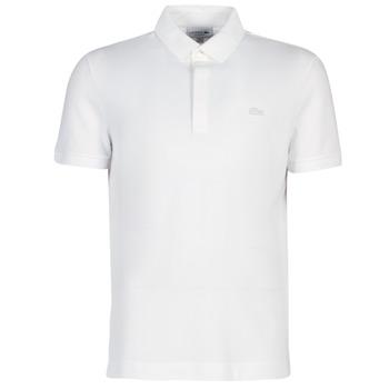 tekstylia Męskie Koszulki polo z krótkim rękawem Lacoste PARIS POLO REGULAR Biały