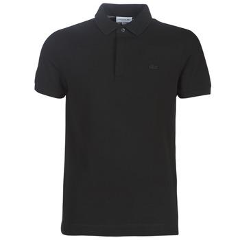 tekstylia Męskie Koszulki polo z krótkim rękawem Lacoste PARIS POLO REGULAR Czarny
