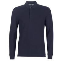 tekstylia Męskie Koszulki polo z długim rękawem Lacoste PH2481 REGULAR Marine