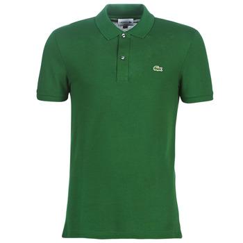 tekstylia Męskie Koszulki polo z krótkim rękawem Lacoste PH4012 SLIM Zielony