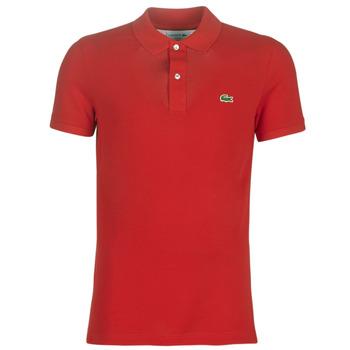 tekstylia Męskie Koszulki polo z krótkim rękawem Lacoste PH4012 SLIM Czerwony