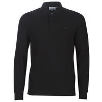 tekstylia Męskie Koszulki polo z długim rękawem Lacoste PH2481 REGULAR Czarny