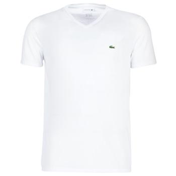 tekstylia Męskie T-shirty z krótkim rękawem Lacoste TH6710 Biały