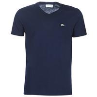 tekstylia Męskie T-shirty z krótkim rękawem Lacoste TH6710 Marine