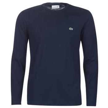 tekstylia Męskie T-shirty z długim rękawem Lacoste TH6712 Marine