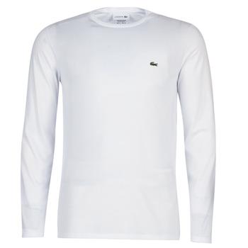tekstylia Męskie T-shirty z długim rękawem Lacoste TH6712 Biały
