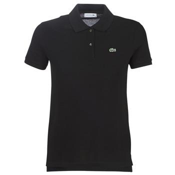 tekstylia Damskie Koszulki polo z krótkim rękawem Lacoste PF7839 Czarny
