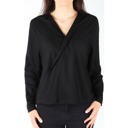 tekstylia Damskie Koszule Wrangler Koszula  L/S Wrap Shirt Black W5180BD01 czarny