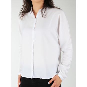 tekstylia Damskie Koszule Wrangler Koszula  Relaxed Shirt W5213LR12 biały