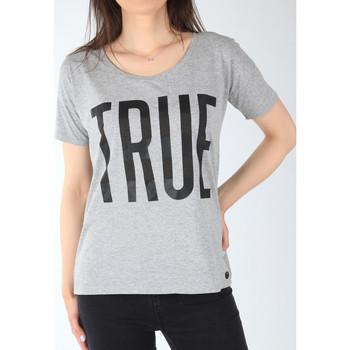 tekstylia Damskie T-shirty z krótkim rękawem Lee T-shirt  Ultimate Tee L42JEP37 szary