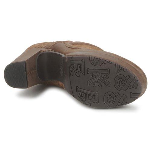 Esska Tilly Brązowy / Pailleté - Bezpłatna Dostawa- Buty Low Boots Damskie 39450 Najniższa Cena