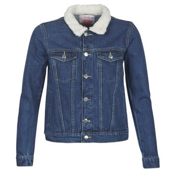 tekstylia Damskie Kurtki jeansowe Moony Mood LOTITO Niebieski / Medium