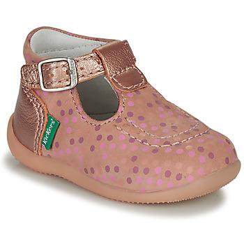 Buty Dziewczynka Sandały Kickers BONBEK-3 Różowy / Polka dot